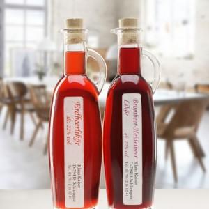 Erdbeer Brombeer Essig und Öl Likör Set aus dem Schwarzwald