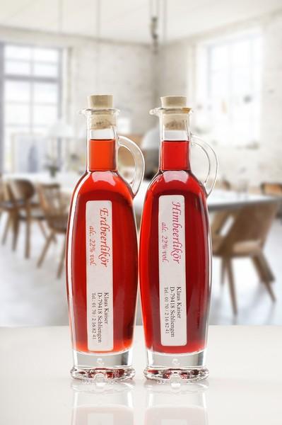 Erdbeer Himbeer Essig und Öl Likör Set aus dem Schwarzwald